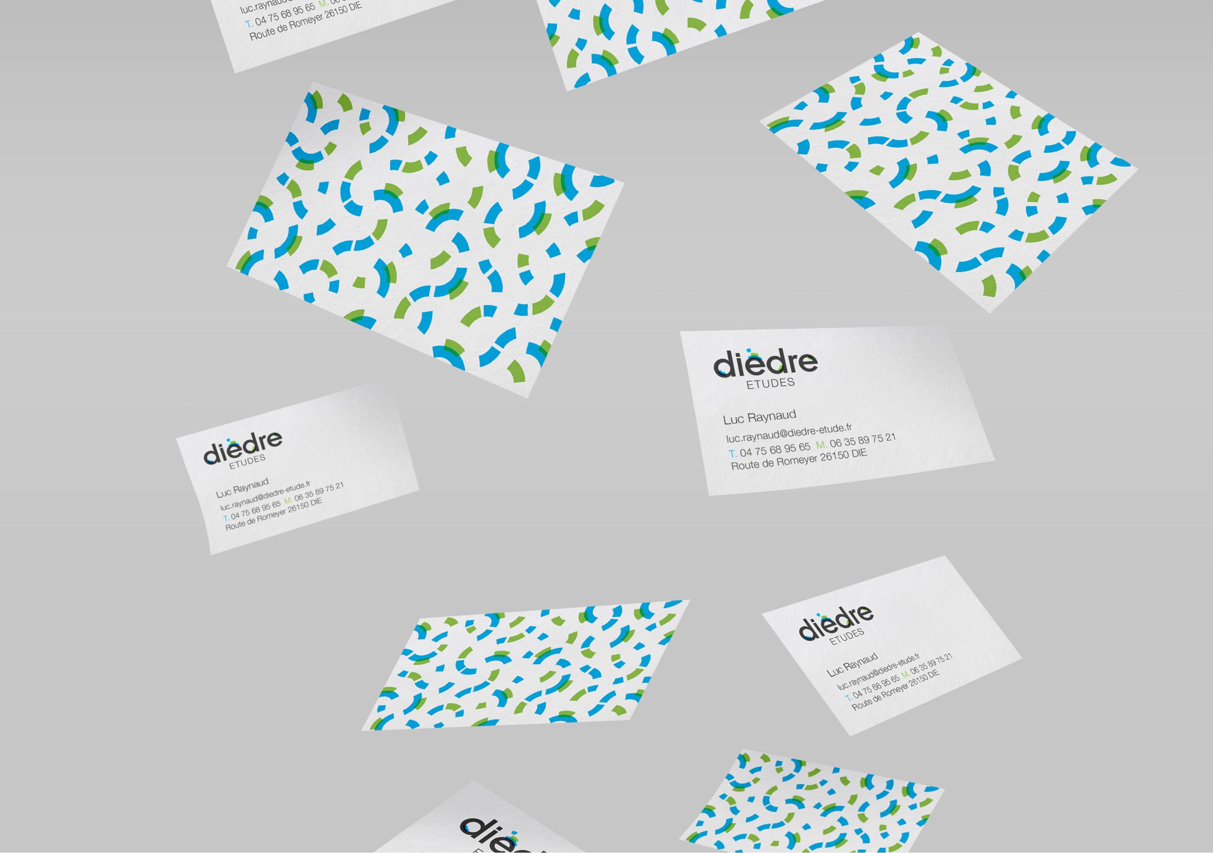 Création motif design graphisme bureau d'études Dièdre Drôme