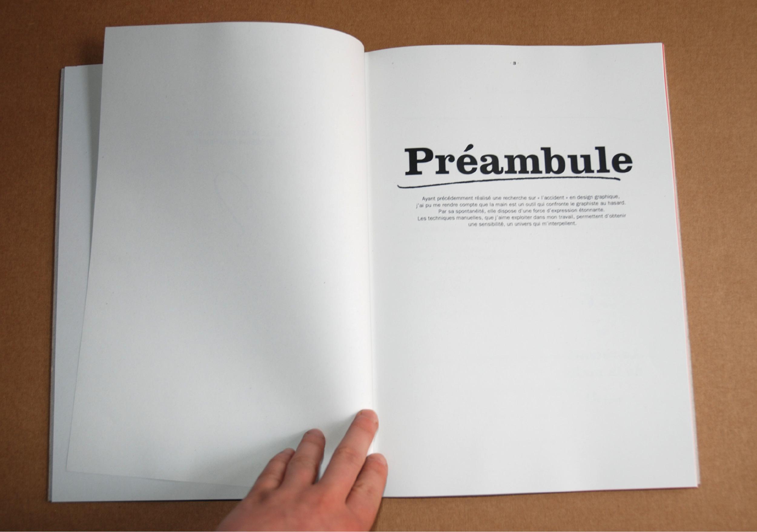 Edition livre typographique manuscrite fait-main design graphique