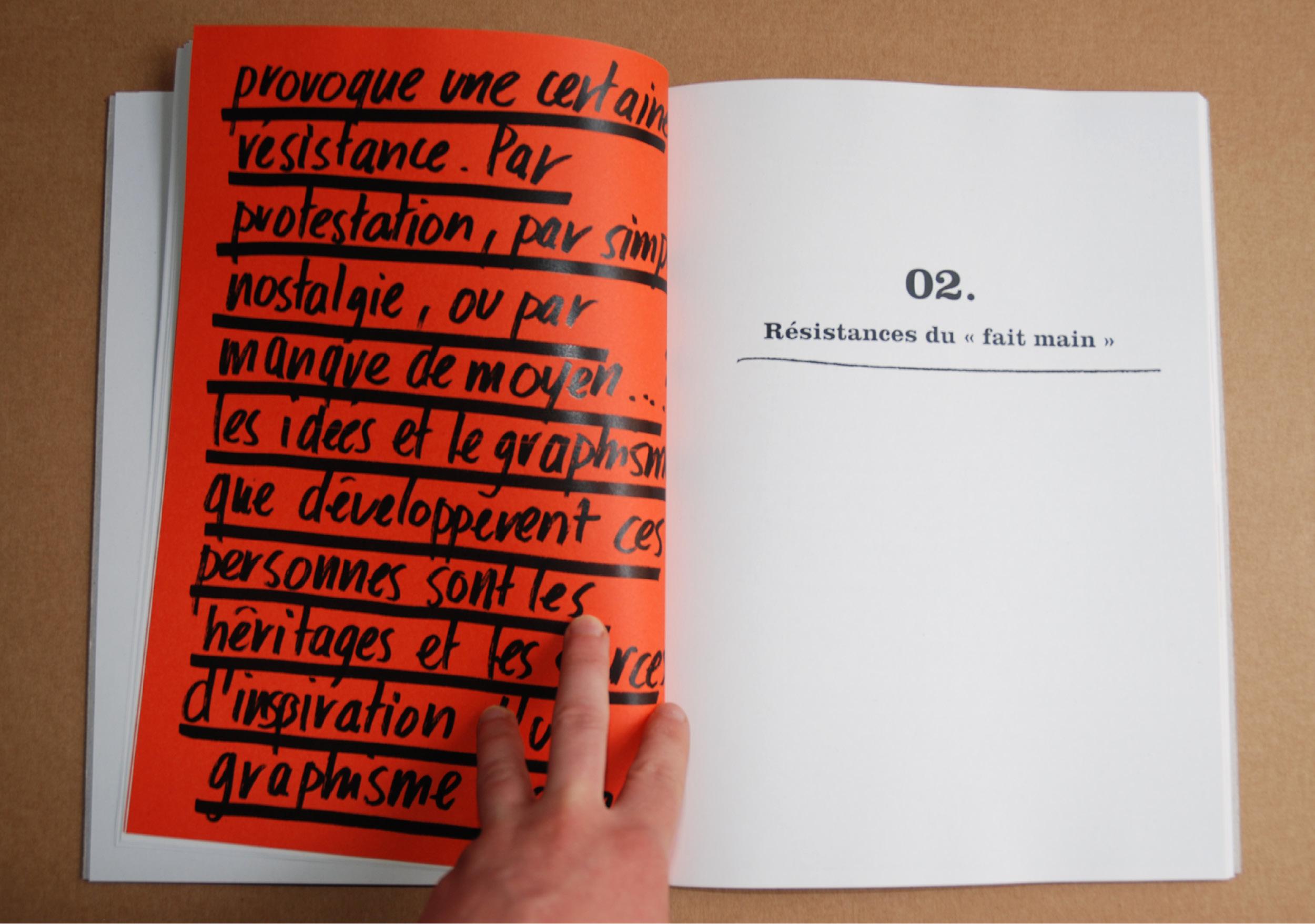 Edition livre graphisme fait-main script typographie