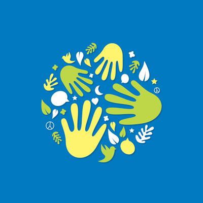 Création d'une affiche avec illustration pour Unipaz Drôme