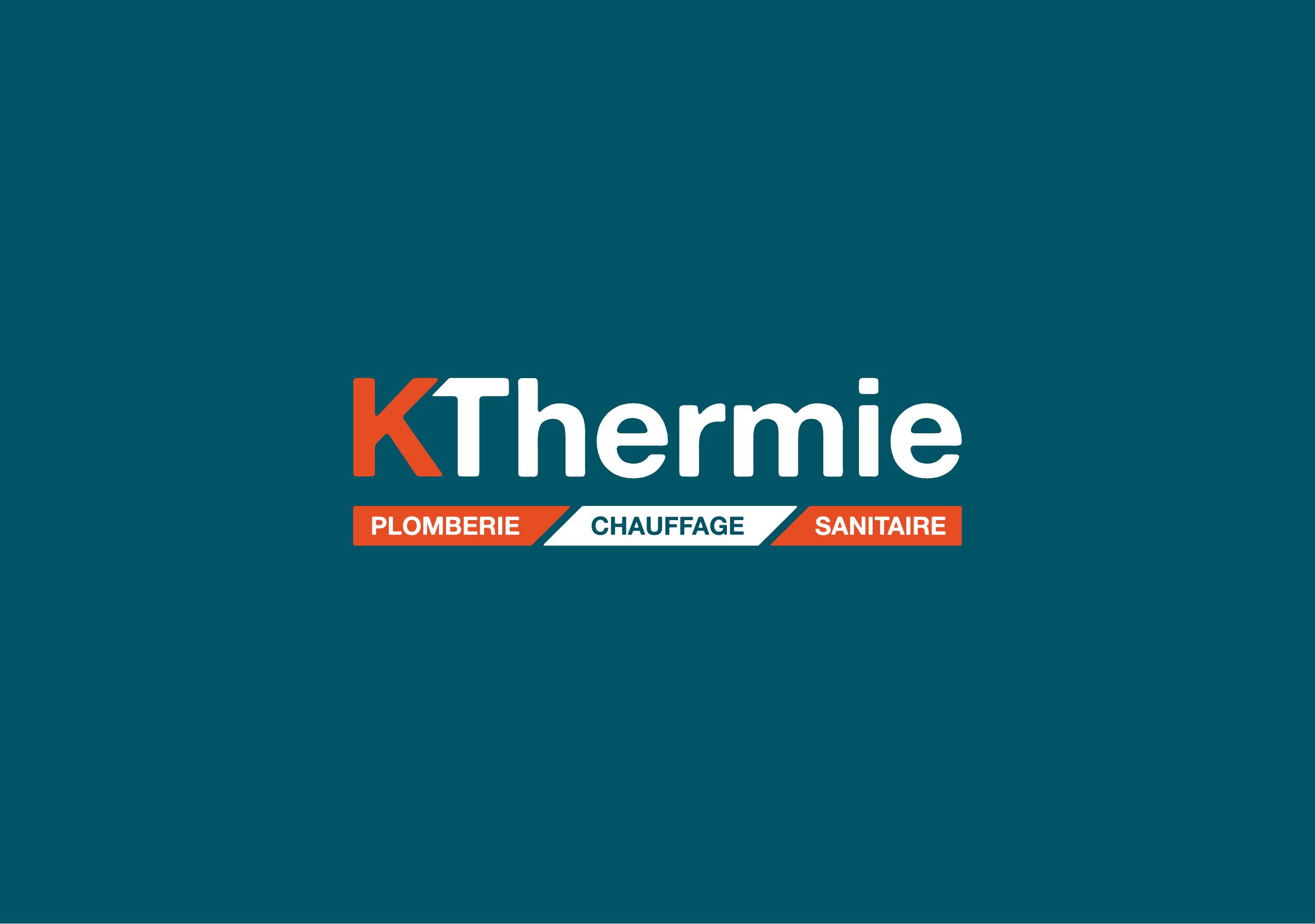 Création logo Kthermie artisan plombier Valence Drôme