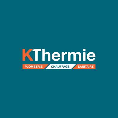 Création du logo Kthermie artisan plombier à Valence