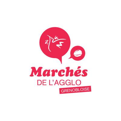 Marchés de l'agglo - La Métro - Grenoble - création logo