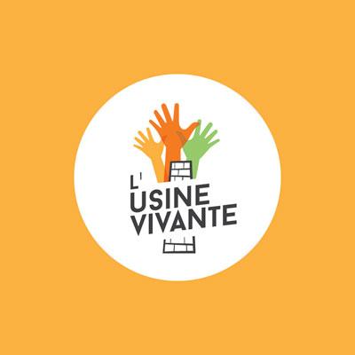 Création de l'identité visuelle de L'Usine Vivante tiers-lieu à Crest Drôme