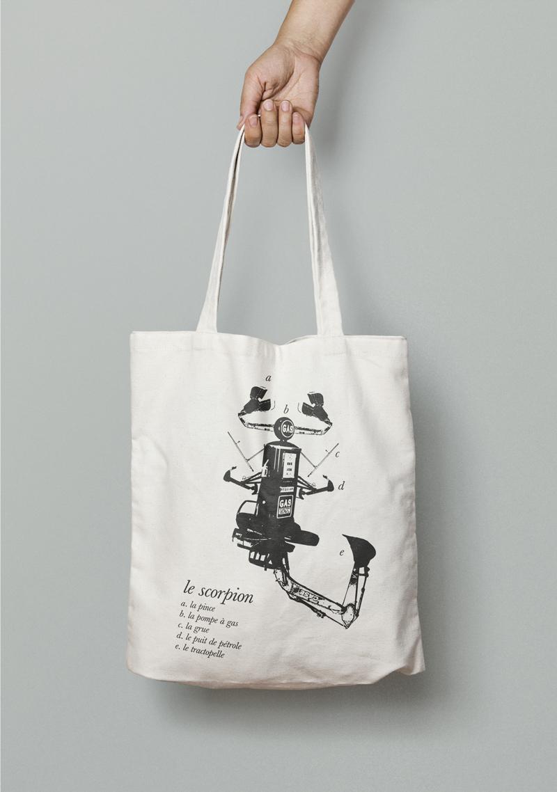 Création graphisme tote bag design graphique illustration vectoriel