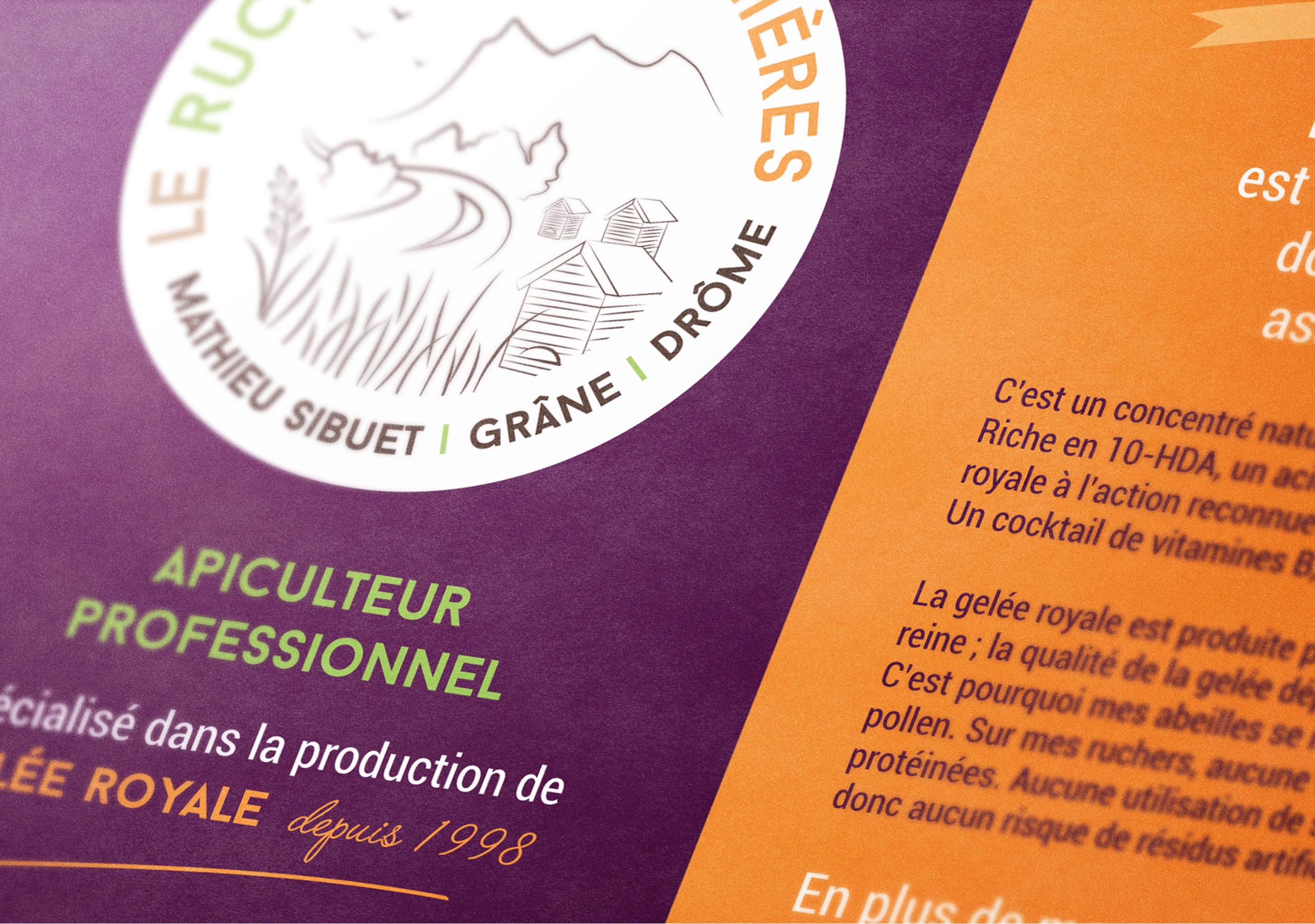 Zoom flyer pancarte explicatif signalétique magasin bio apiculteur professionnel Crest Drôme
