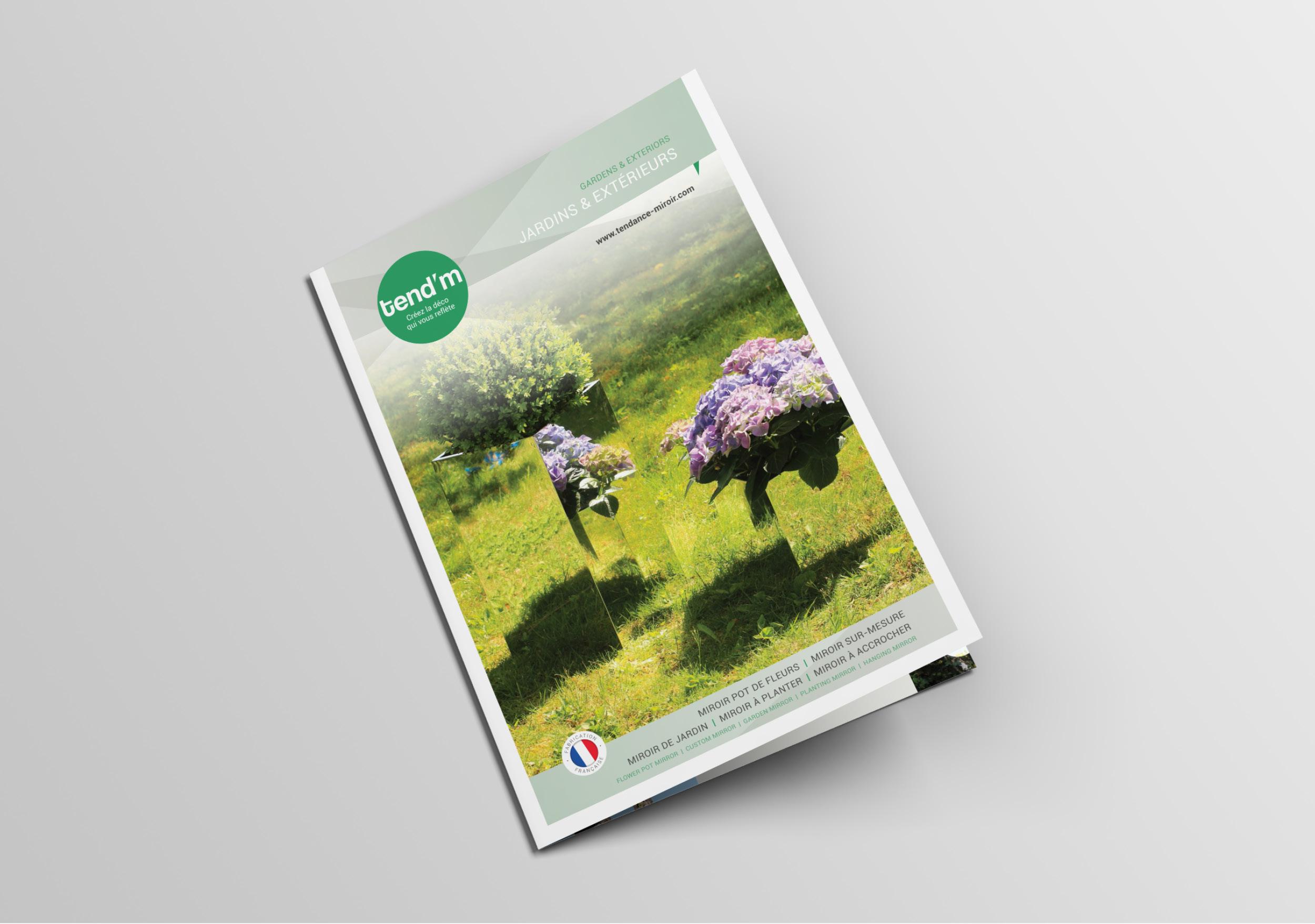 Création brochure Tendance Miroir design charte graphique communication marketing